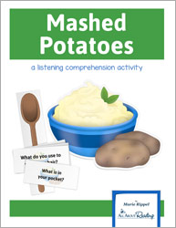 Mashed Potatoes Listening Comprehension Game