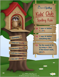 Kids' Club Rule for Spelling