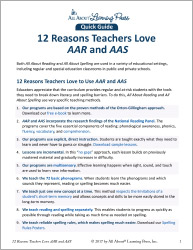 12 Reasons Teachers Love AAR and AAS