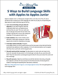 Build Language Skills with Apples to Apples