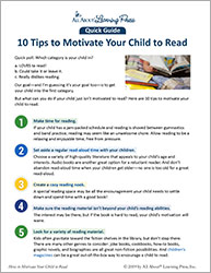 Ten Tips: Motivate Your Child to Read