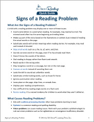 Signs of a Reading Problem